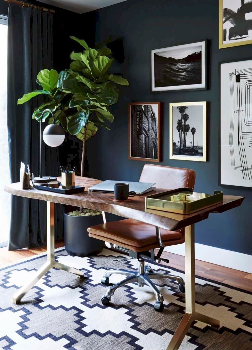 Excellent Photo of Home Office Design Ideas For Men | Masculine ..