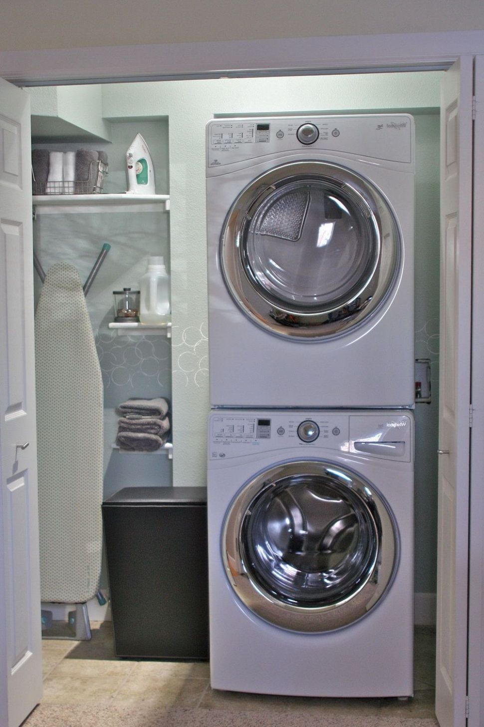 Excellent Small Laundry Room Closet Design Featuring Stackable ..