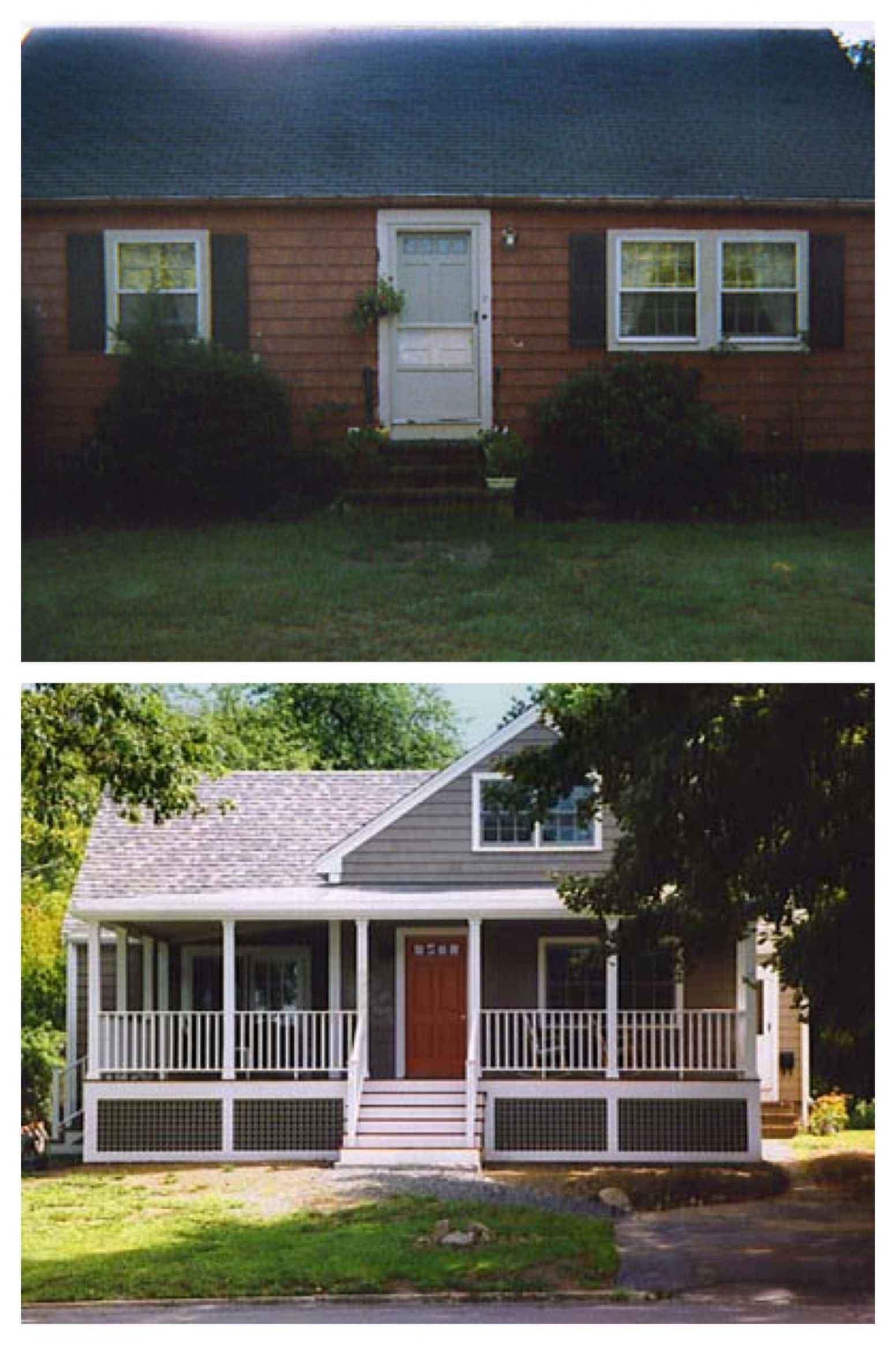 Exterior remodel before and after | House exterior, Exterior ...