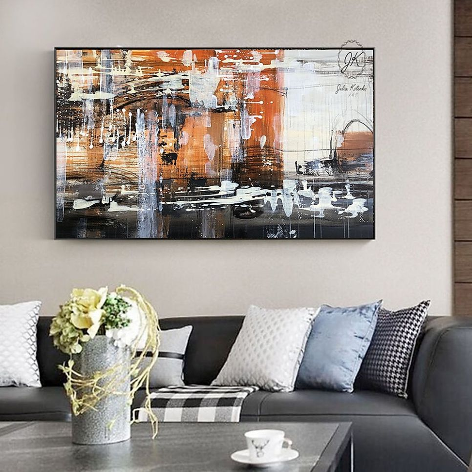 Extra Large Wall Art For Dining Room Ireland Abstract Framed ..