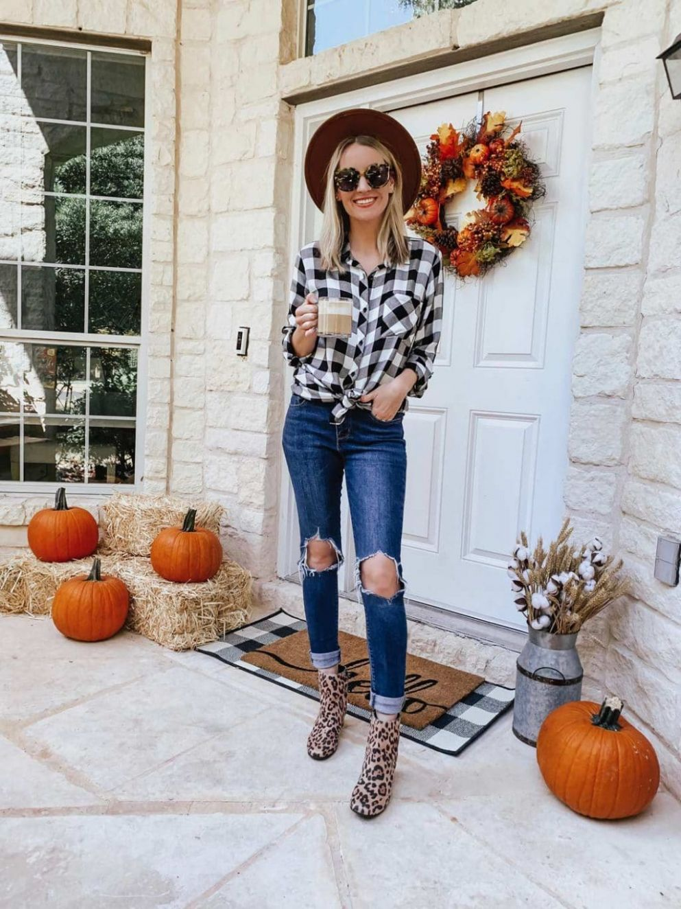 Fall Front Porch Decor from Walmart | Life By Lee