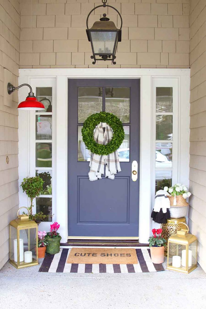 Front Porch Decorating Ideas: 11 months of Inspiration - Modern Glam - front porch decor january
