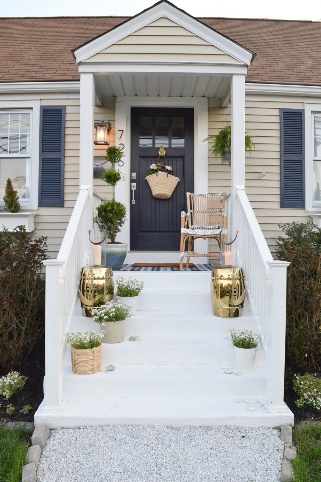 Front Porch Ideas and Designing the Outdoors - Nesting With Grace - front porch ideas before and after