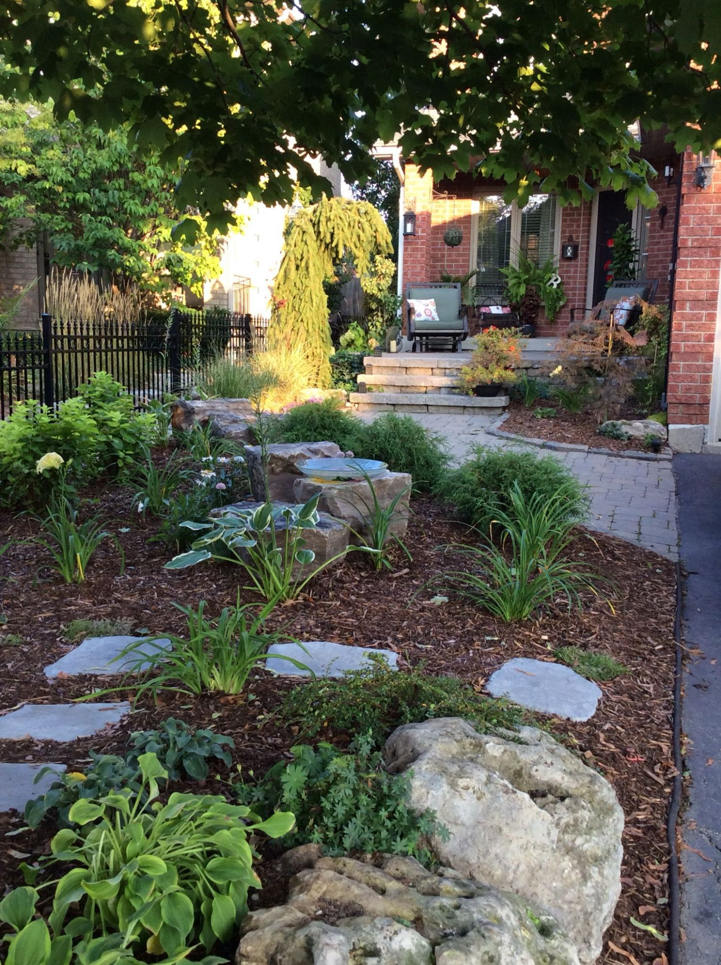 Front yard landscape no grass …   Small front yard landscaping