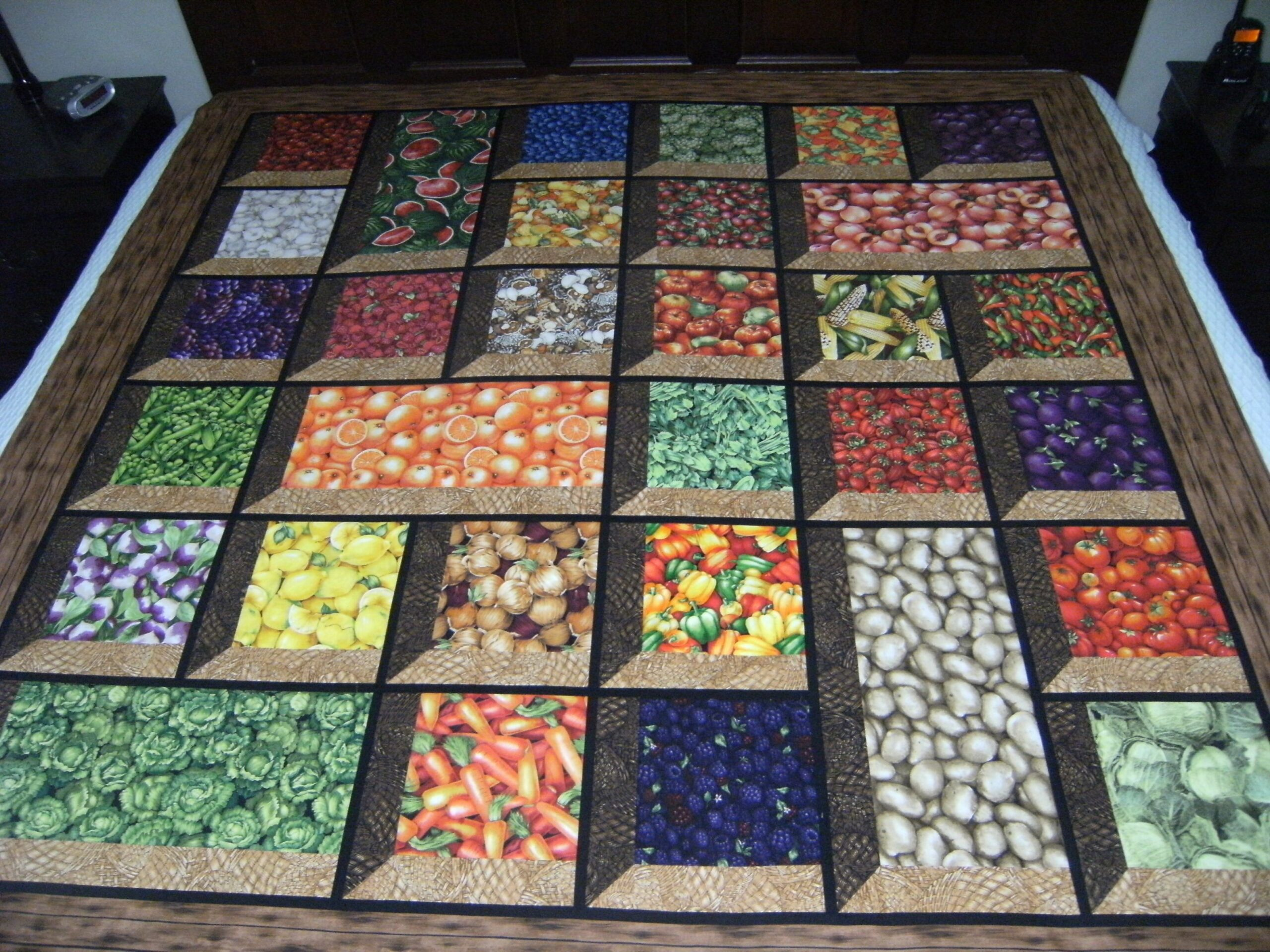 Fruits Vegetables in attic windows from Quilting Board | Picnic ..
