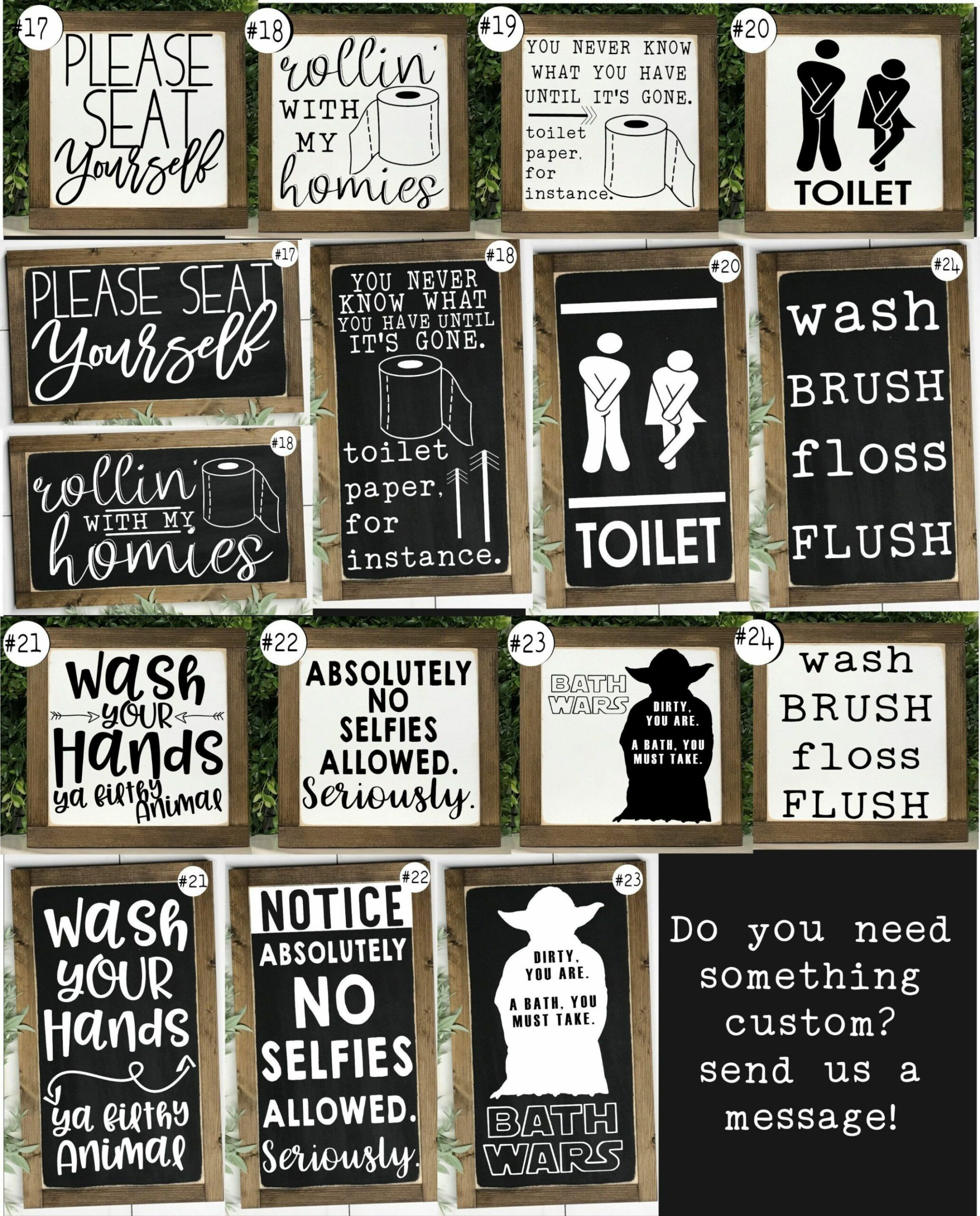 Funny Bathroom Signs Bathroom Wall Decor Kids Bathroom | Etsy ...