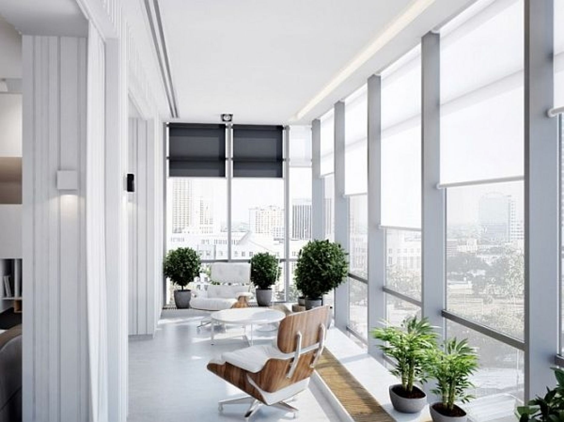 Furniture: Modern Indoor Sunroom Furniture With Interior Potted ..