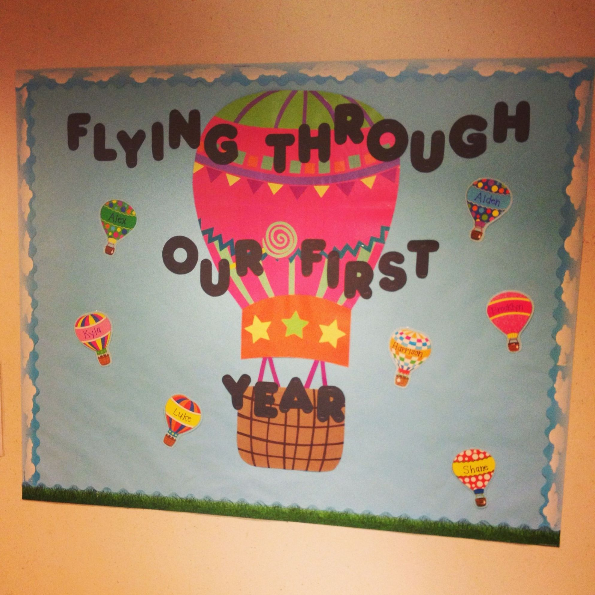 Good bulletin board for an infant room. Flying through our first ...