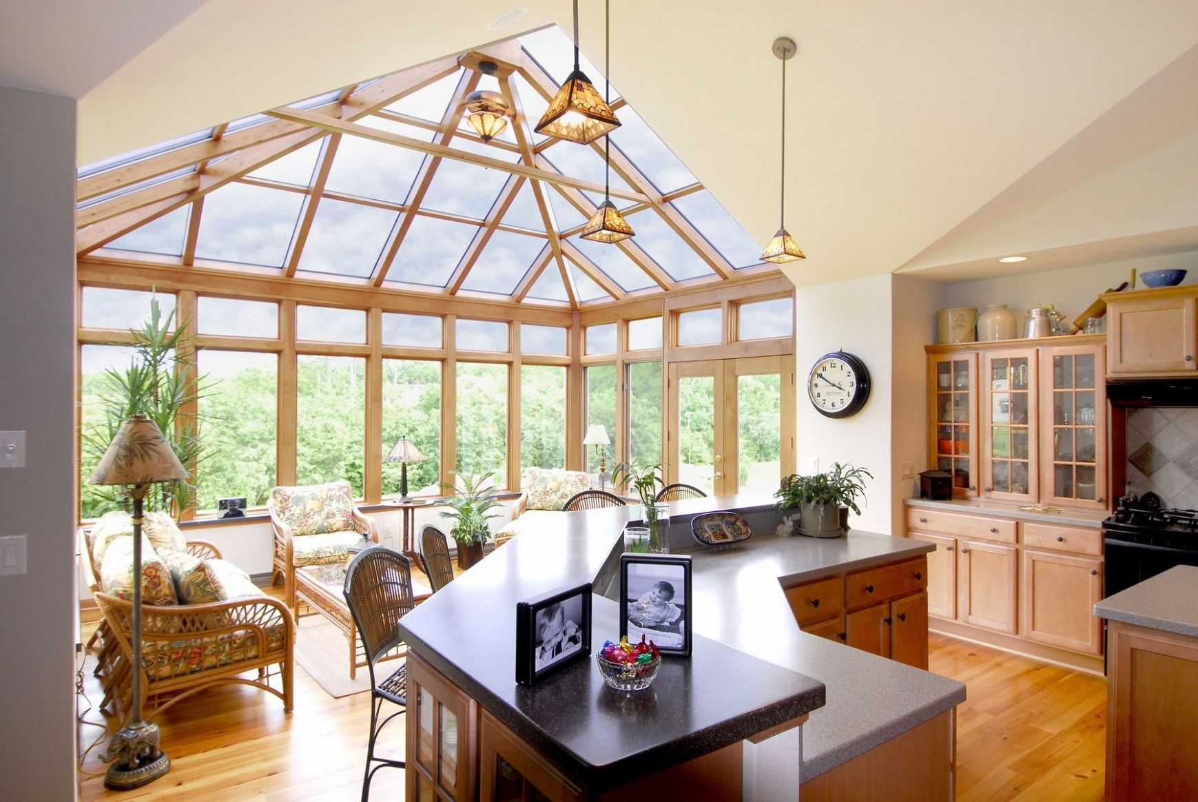 Gorgeous and open kitchen. Let us build a sunroom addition to ..