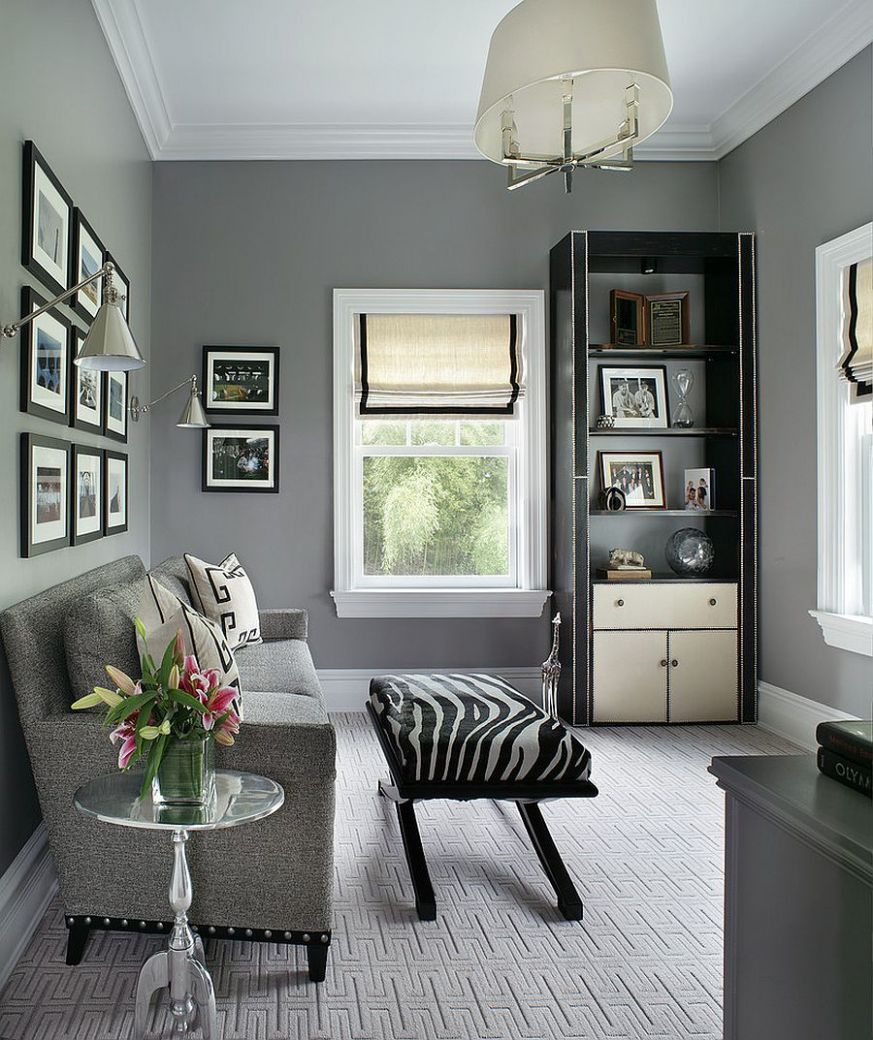 gray office - Meyta - home office ideas grey