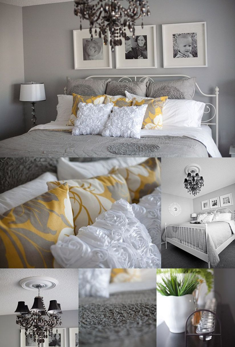 Gray, Yellow & White. LOVE These Colors Together. My Next Bedroom ..