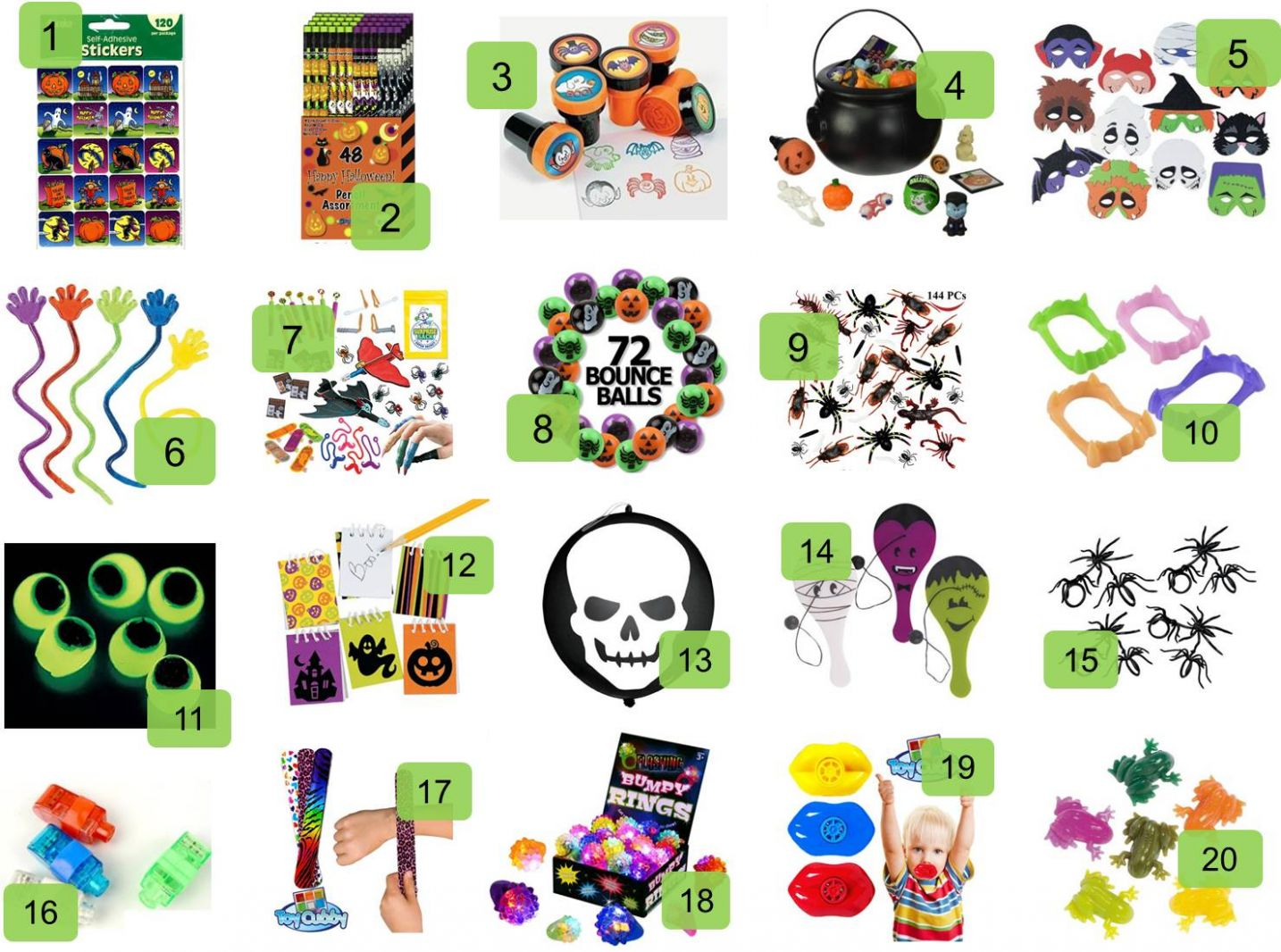 Great Non-Candy Halloween Treats for Kids
