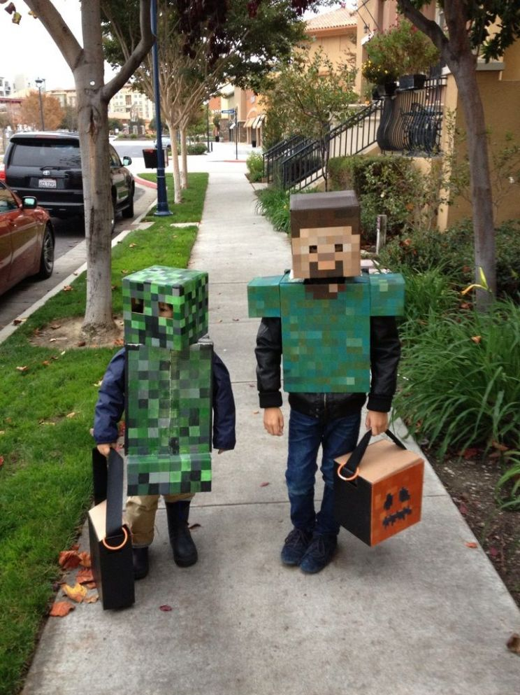 Handmade Minecraft costumes for Halloween this year. | Minecraft ..