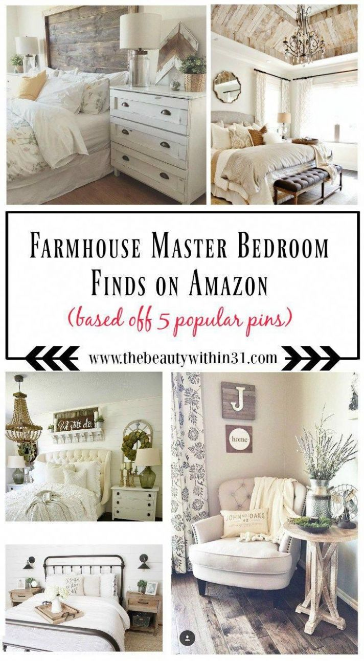 Here is a list of farmhouse master bedroom decor finds from AMAZON ...