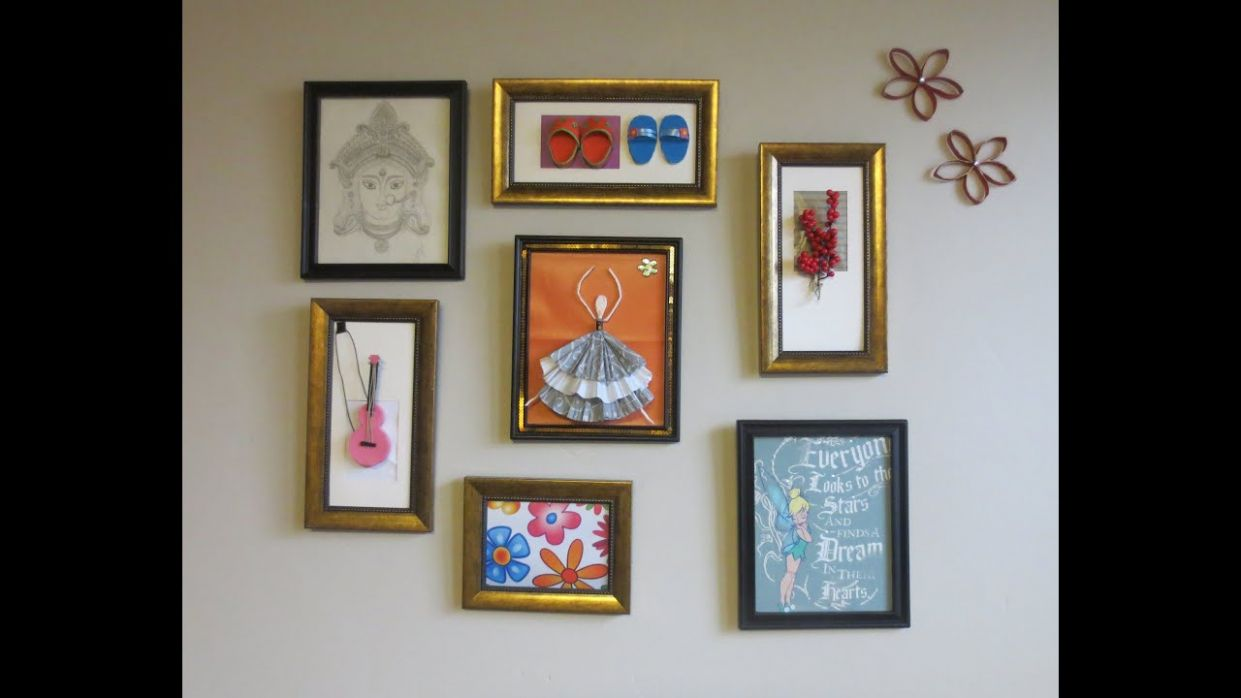 Home Decor : Tshirt graphic & 9D Wall Art Picture Frame Collage Ideas - wall decor ideas picture frame