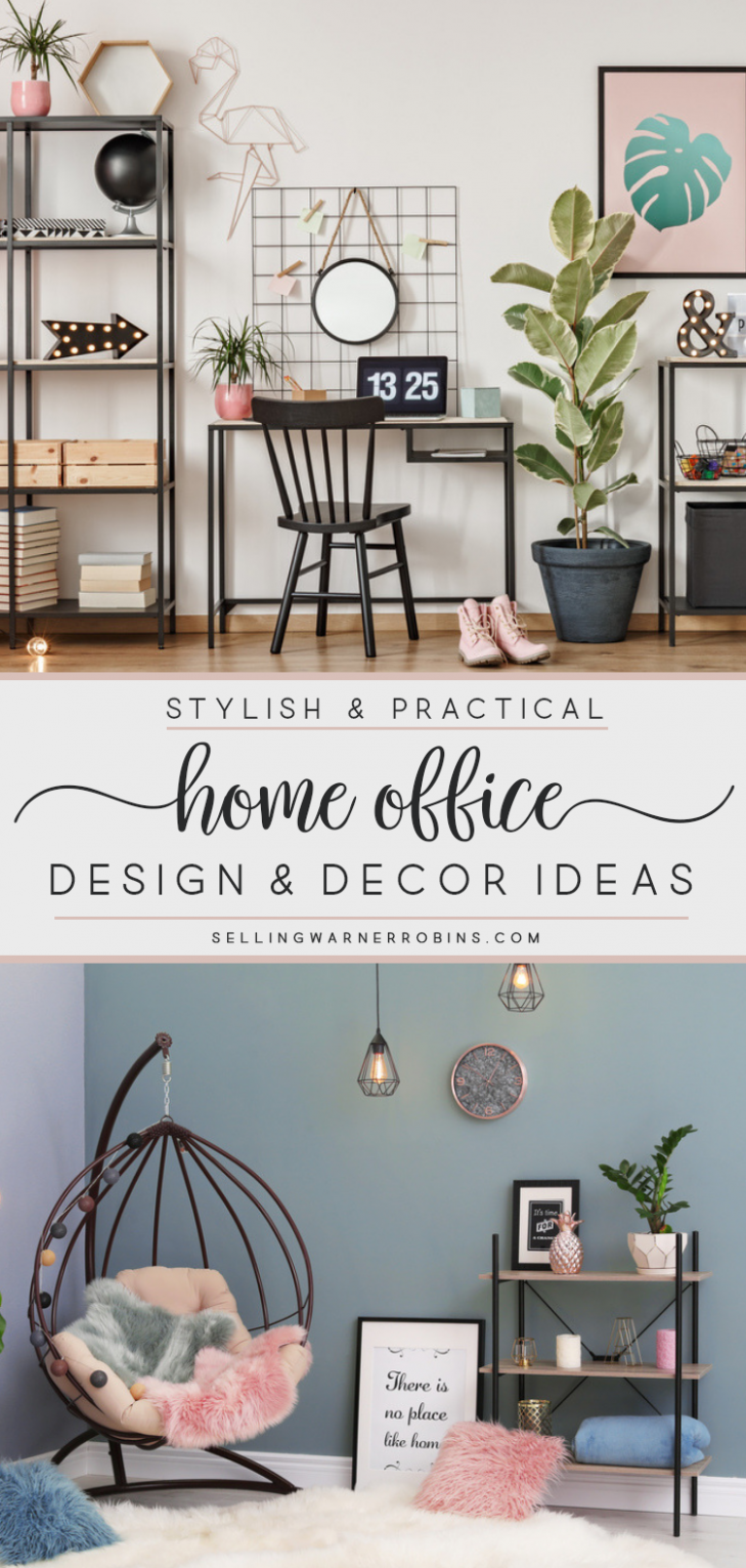 Home Office Decorating Ideas | Home office design, Home office ..