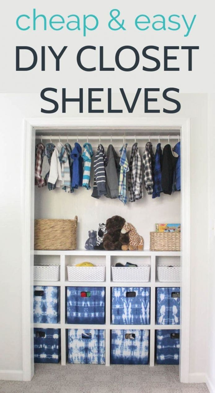 How to build cheap and easy DIY closet shelves - Lovely Etc