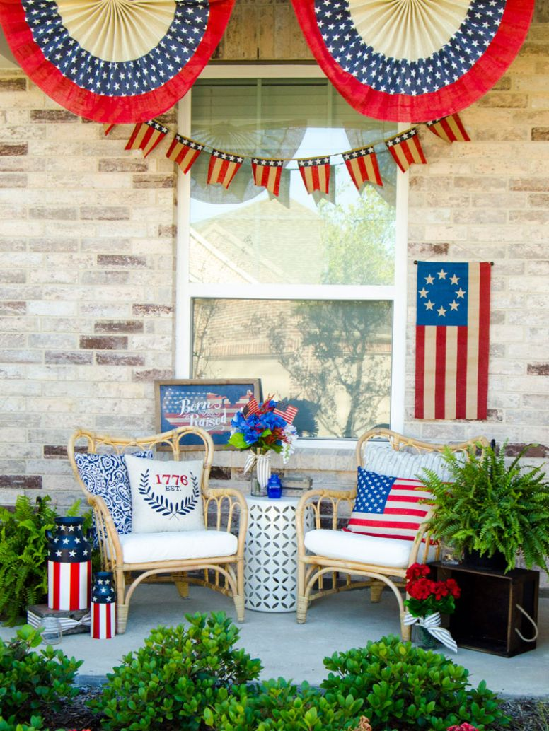 How To Decorate a Front Porch for the 11th of July by Lindi Haws of ..