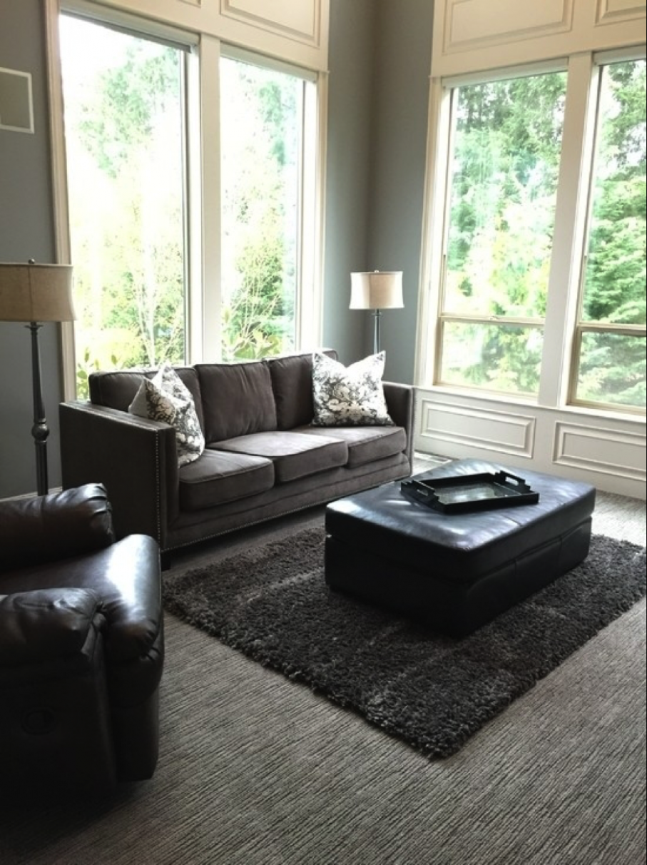 How to Hide Ugly Carpeting in Your Apartment - HotPads Blog - apartment living room ideas with carpet