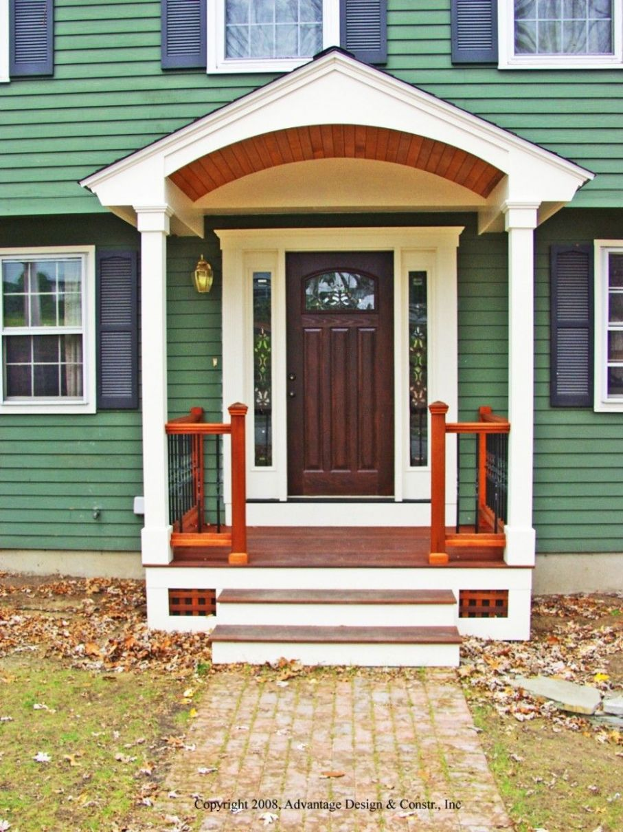 How To Plan Front Porch Column Ideas : Comely Small Front Porch ...