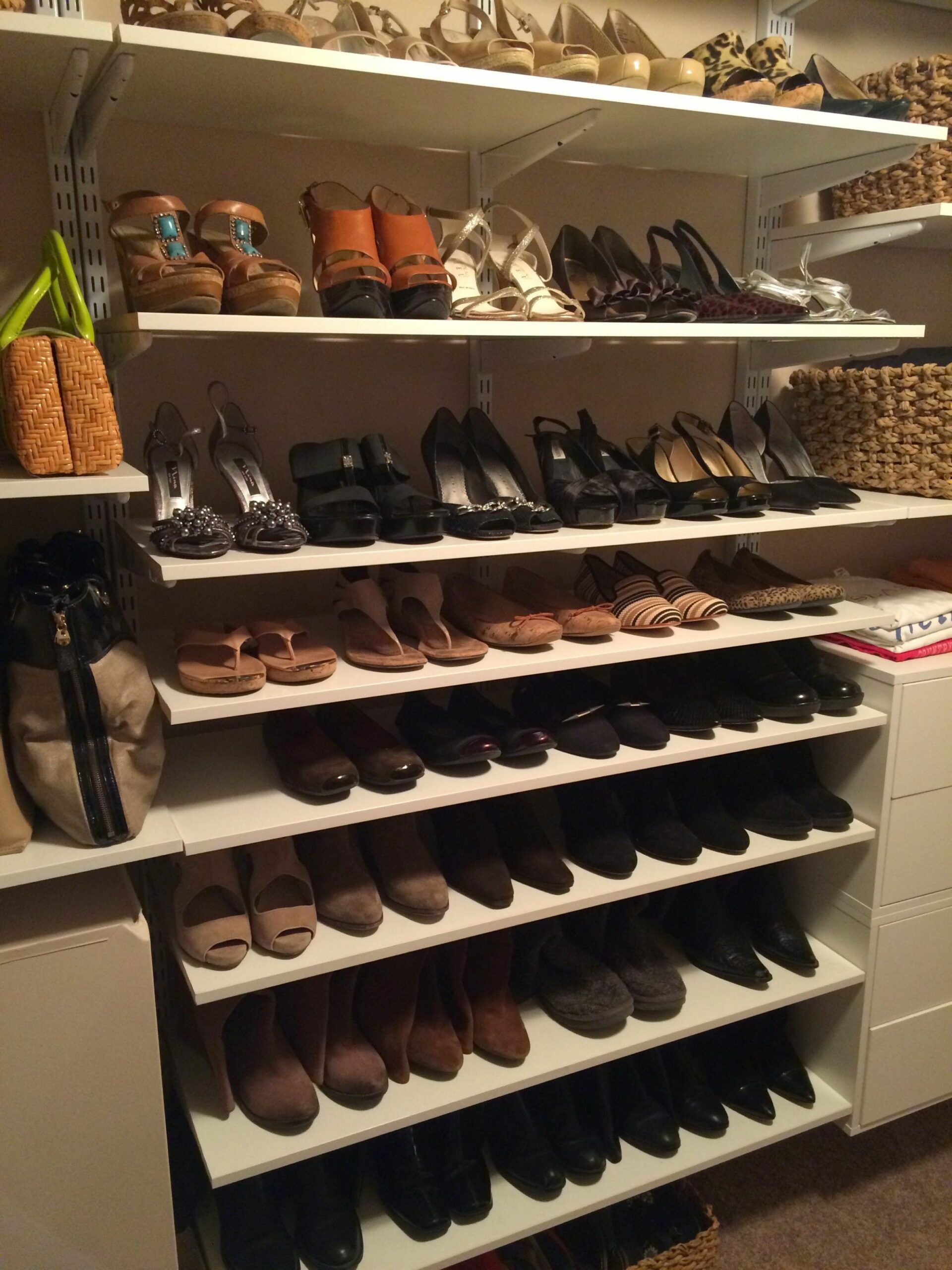 How to Store and Organize Shoes in a Closet | Shoe shelf in closet ...