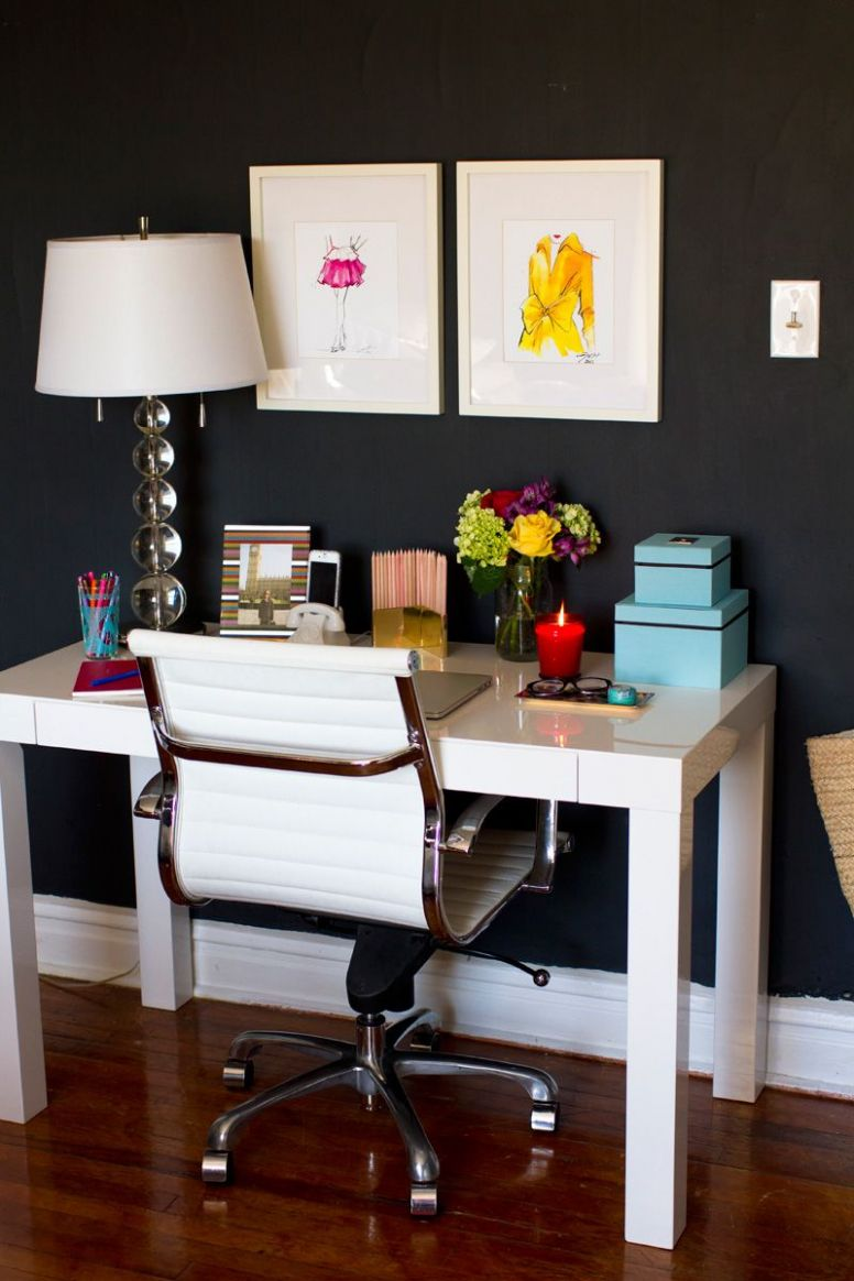 How to Style the West Elm Parsons Desk | Home office decor, Home ..