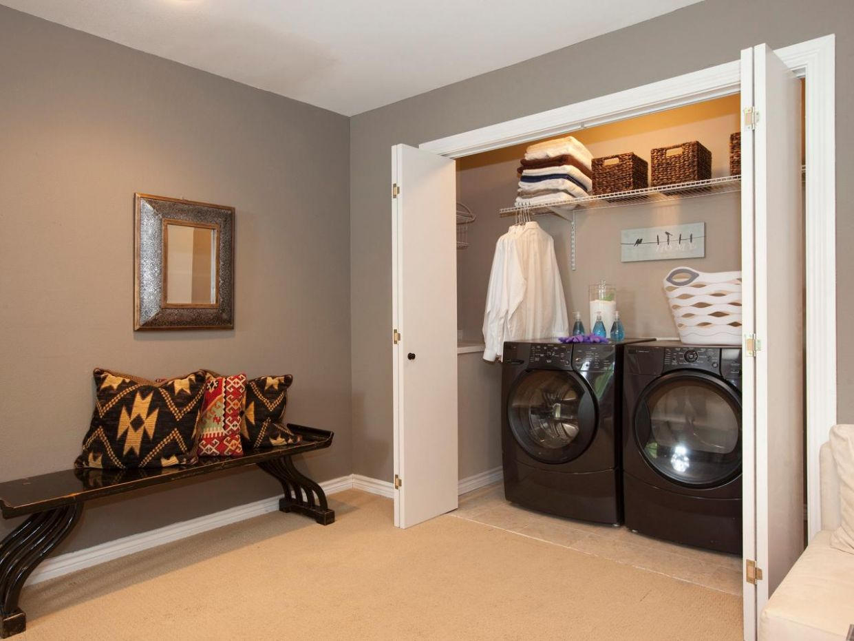 How to Turn a Spare Room Into a Laundry Room - laundry room near bedrooms