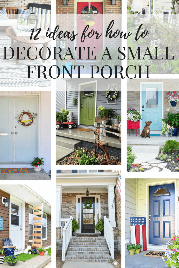 Ideas for decorating a small porch or front entry. Easy DIY ..