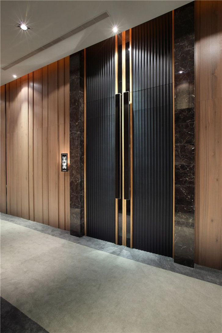 Imagen de creative line en Lobby with lift design | Entrada ..