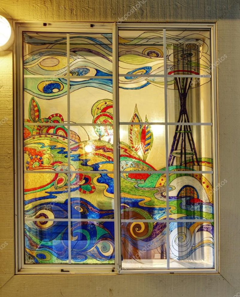 Images: painting on window glass ideas | Colorful painted window ...