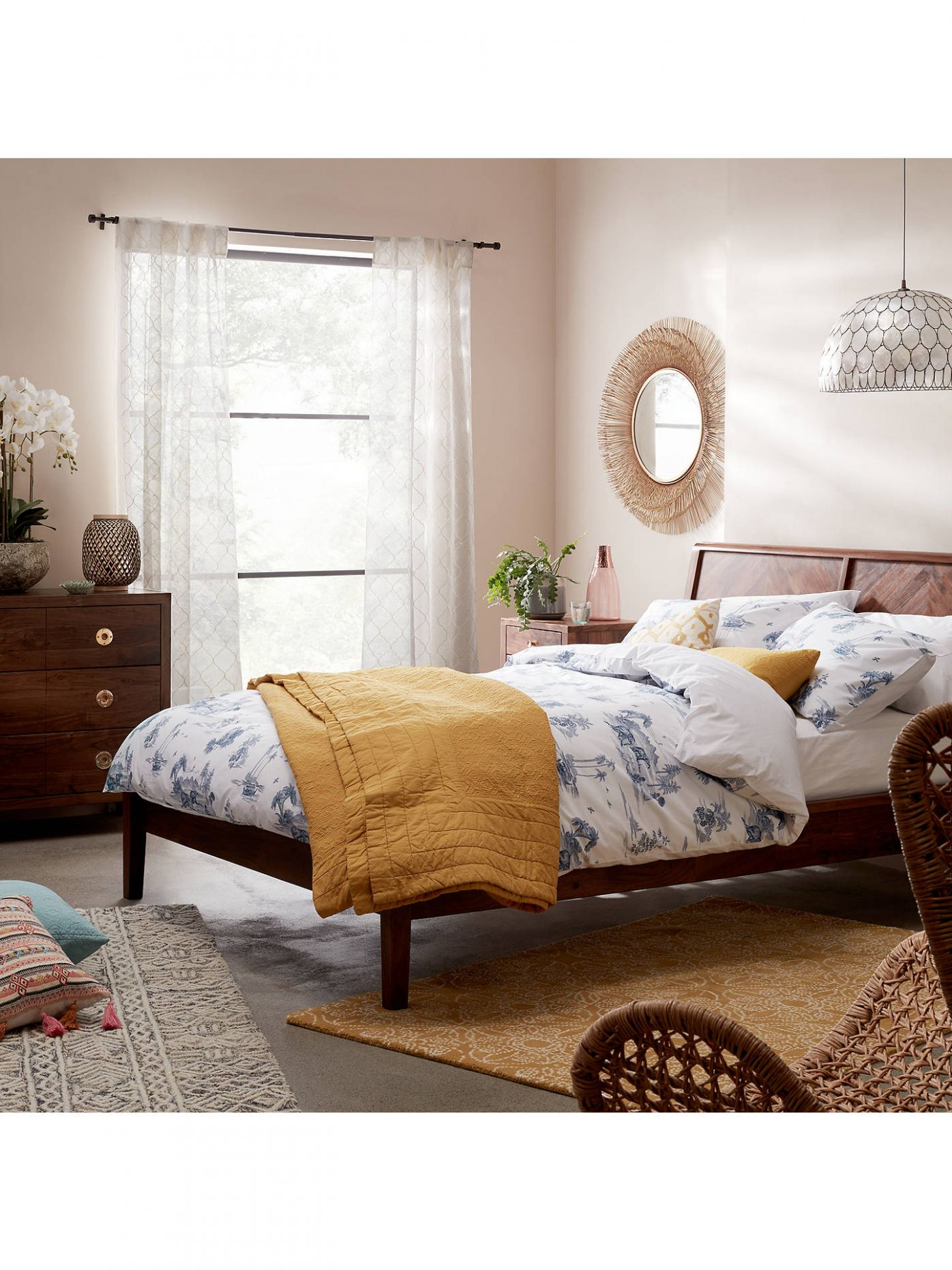 John Lewis & Partners Padma Parquet Bed Frame, Double, Brown - bedroom ideas john lewis