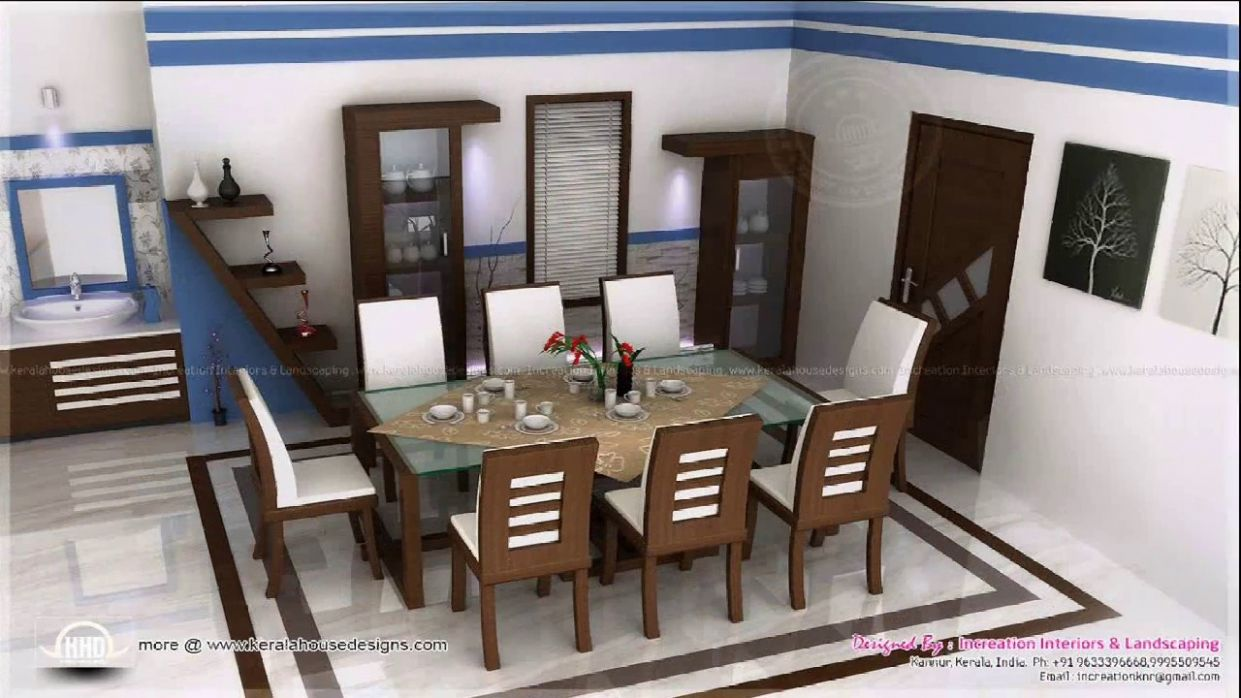 Kerala Home Dining Room Design - YouTube