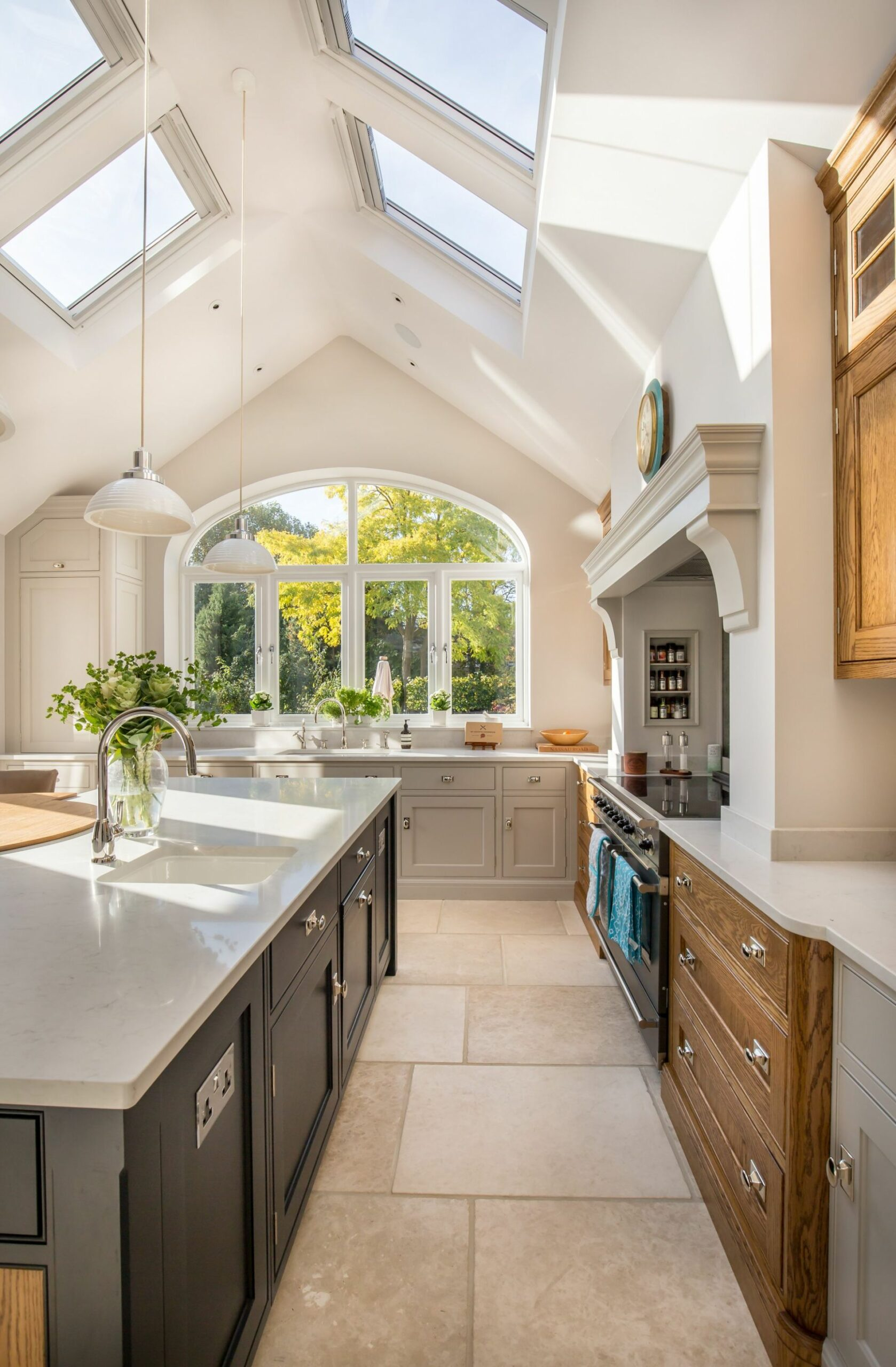 Kitchen extension project with natural light flooding the space ..
