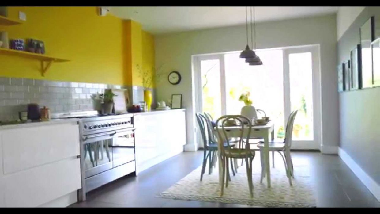 Kitchen Ideas: Create a Yellow & Grey Colour Scheme with Dulux