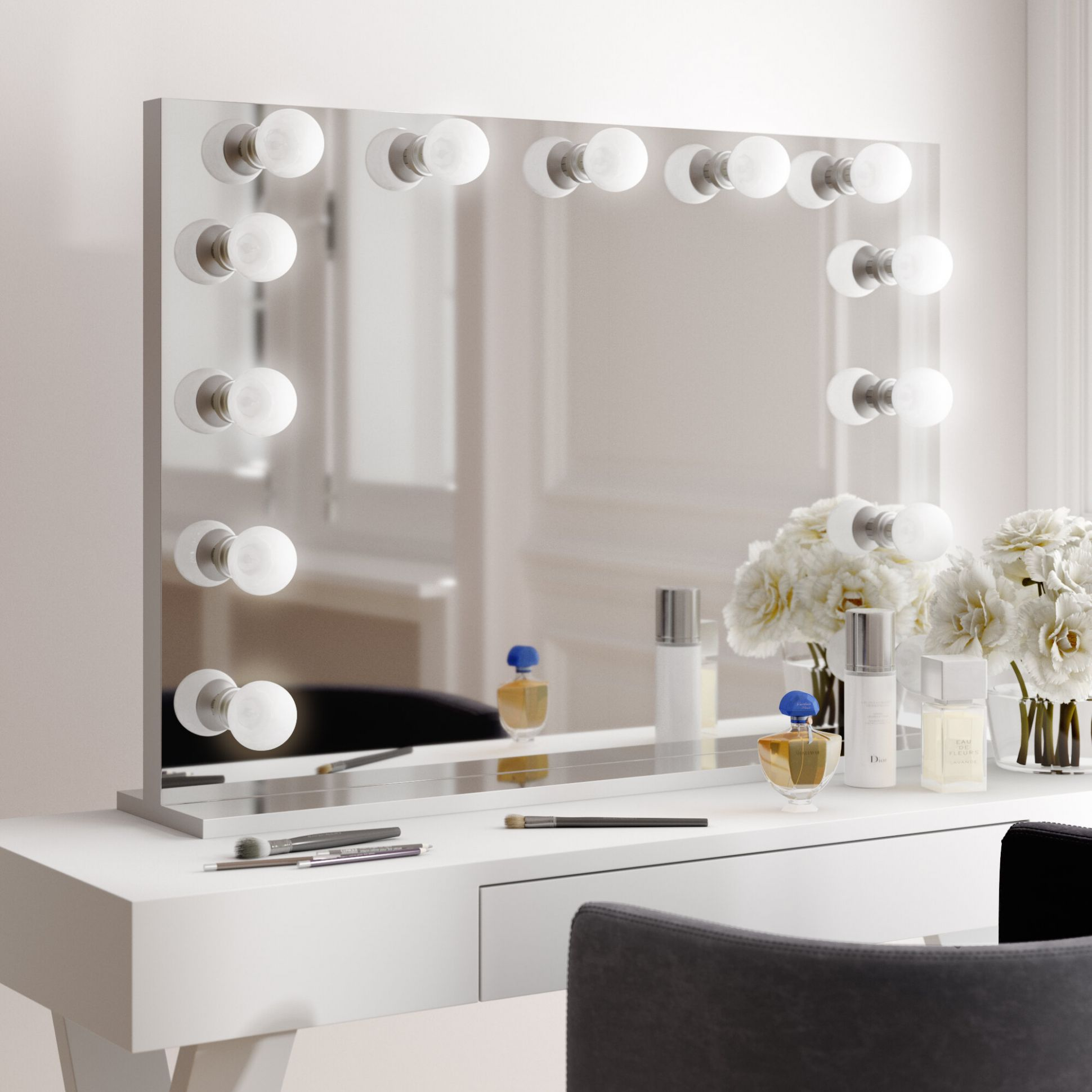 Laleia Lighted Makeup/Shaving Mirror