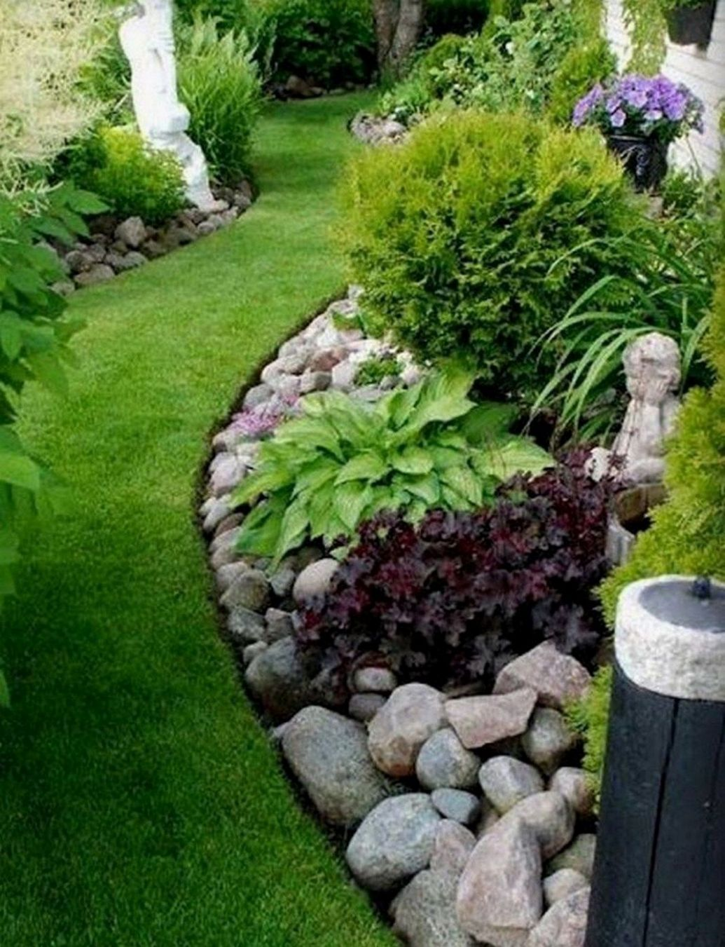 landscaping ideas in front of bay window | Backyard landscaping ..