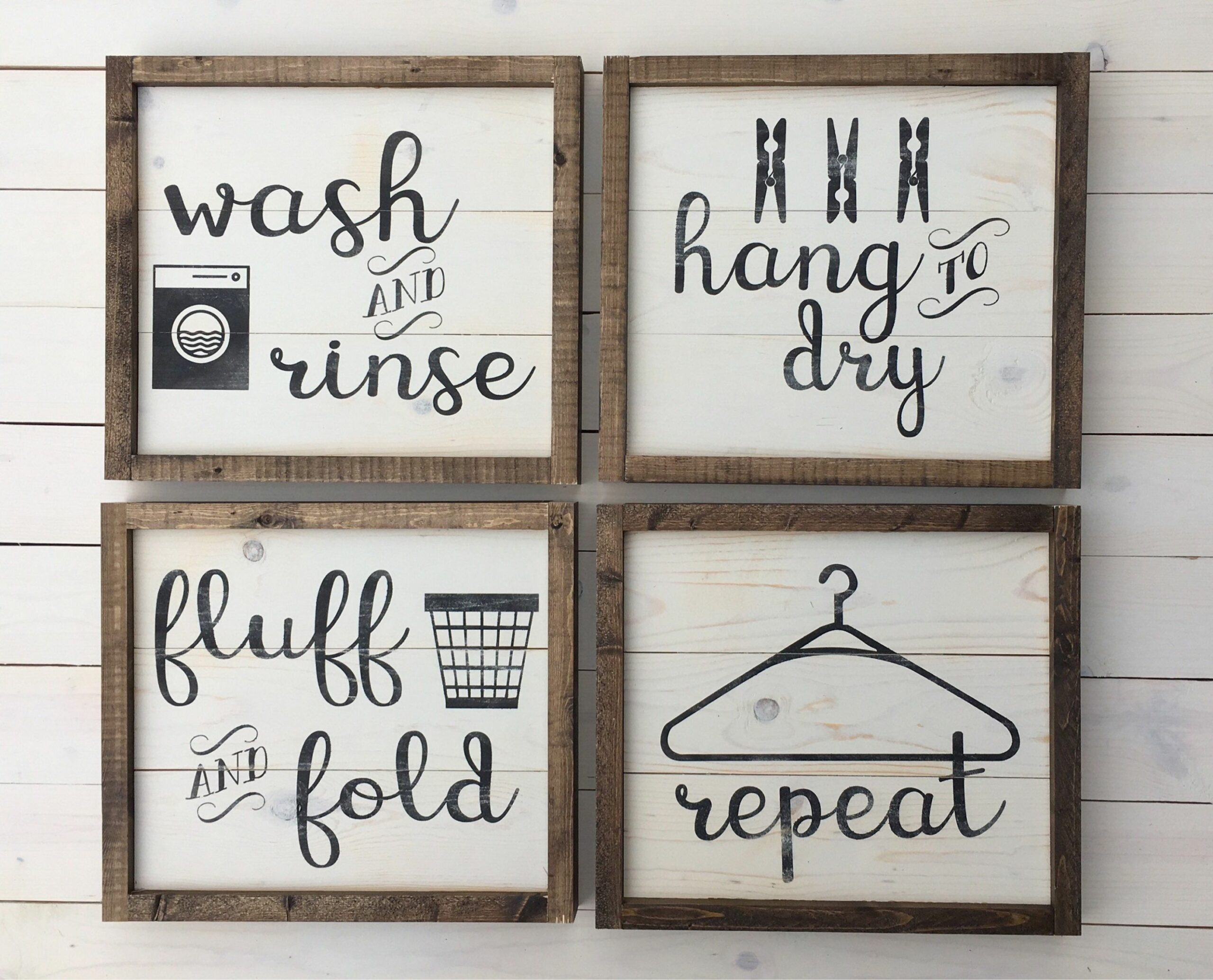 Laundry Room Decor Set of Four Signs Farmhouse Wall Decor | Etsy ..