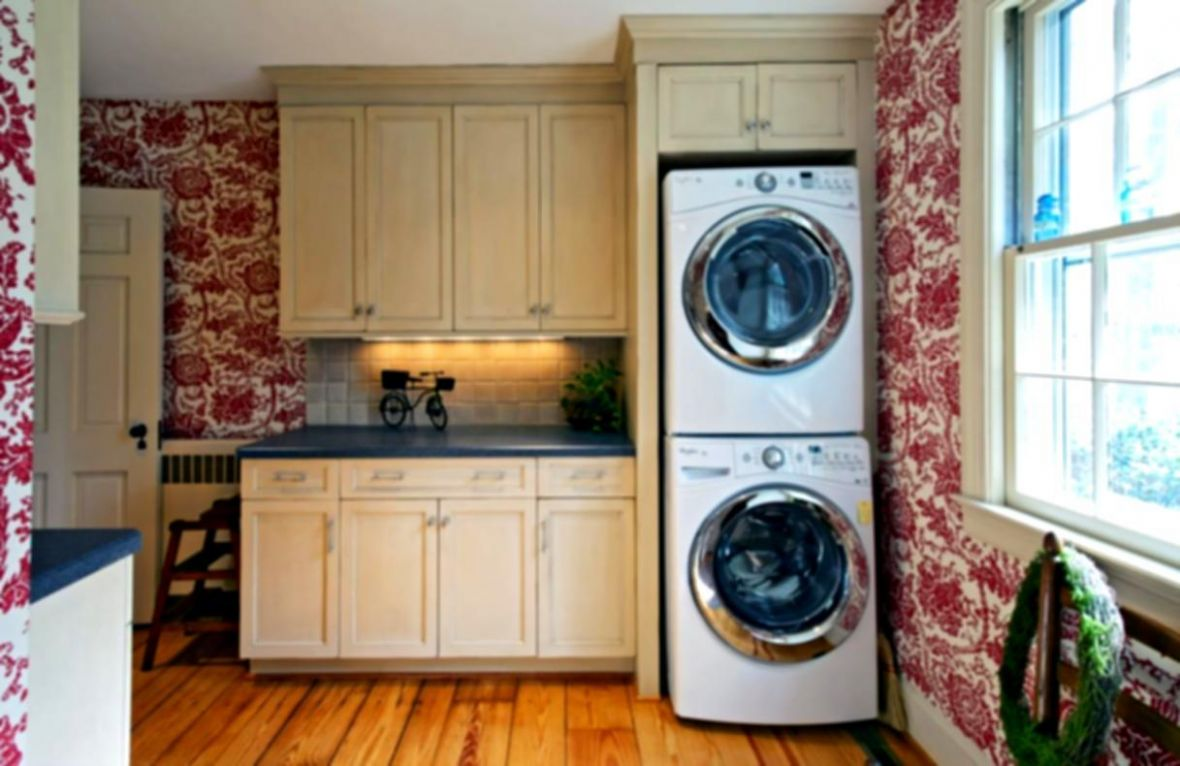 Laundry Room Ideas Stacked Washer Dryer Plans, Small Laundry Room ...