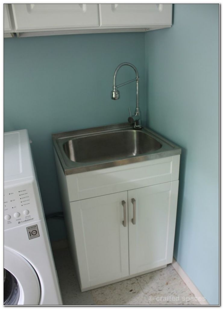 Laundry Room Utility Sink With Cabinet Cabinet : Home Design Ideas ..