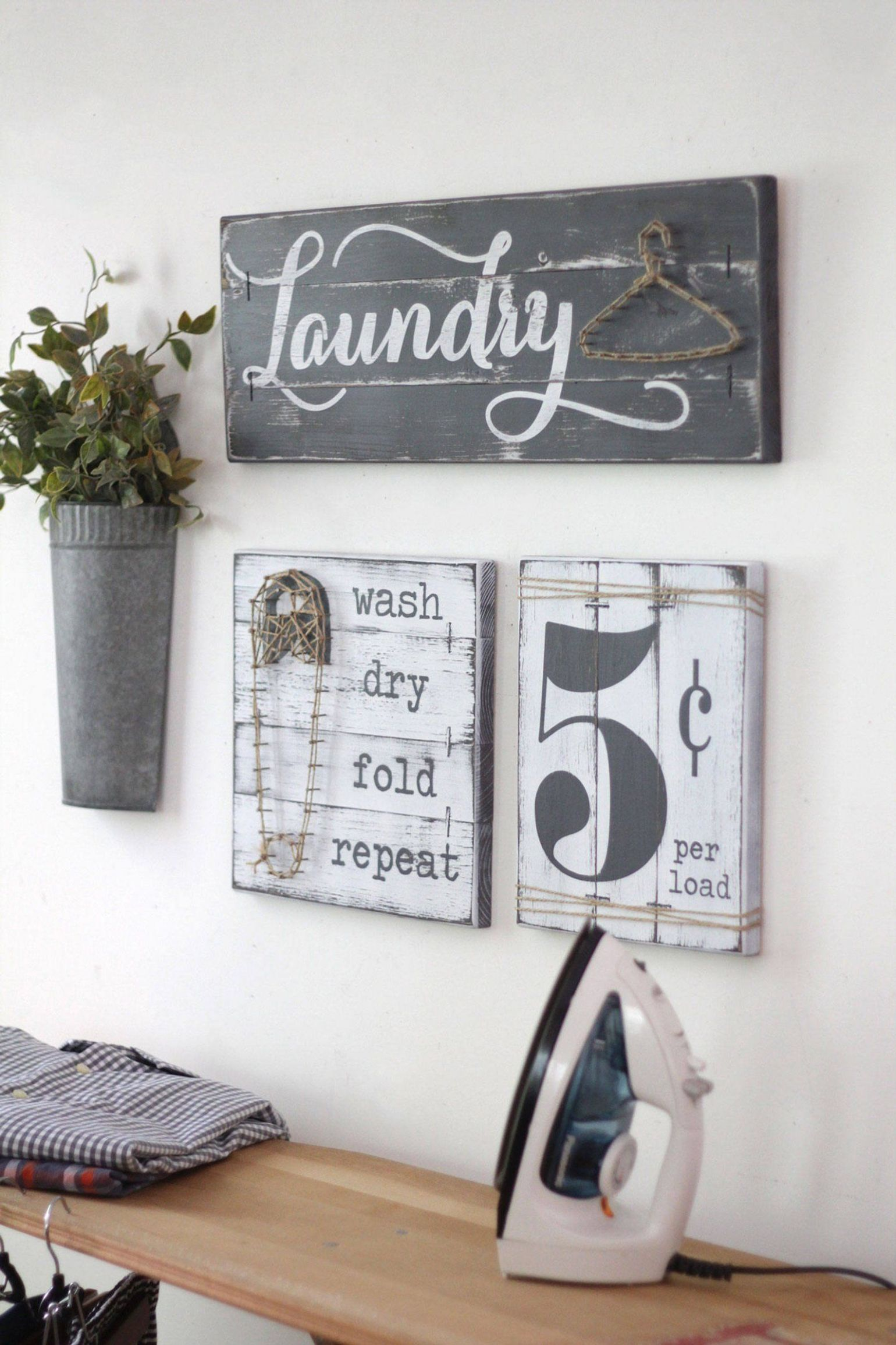 LAUNDRY SIGN SET Laundry Room Decor Laundry Room Decor | Etsy ..
