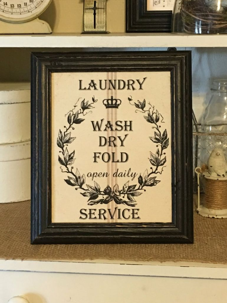 Laundry Wash Dry Fold, Laundry Room Print, Laundry Room Decor, Laundry  Sign, Farmhouse Style, Primitive Decor - laundry room decor etsy