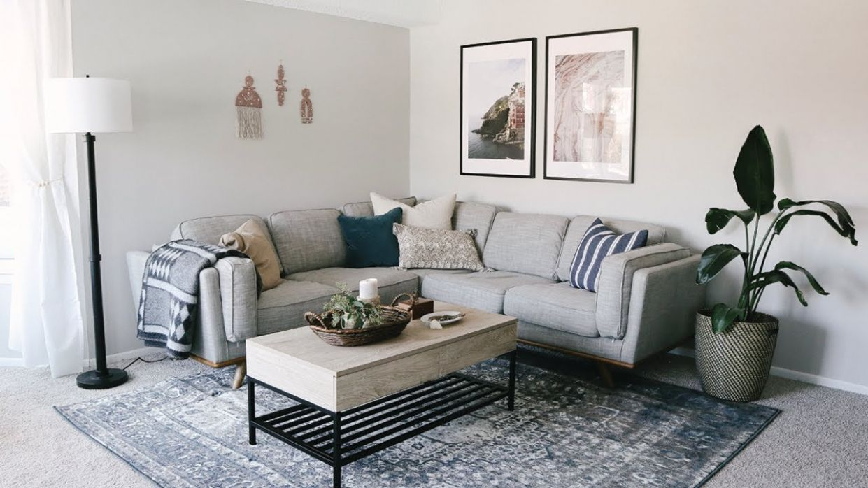 Living Room Apartment Makeover • Laying Out Furniture Tips & Decorating  Ideas - apartment decorating ideas for young adults