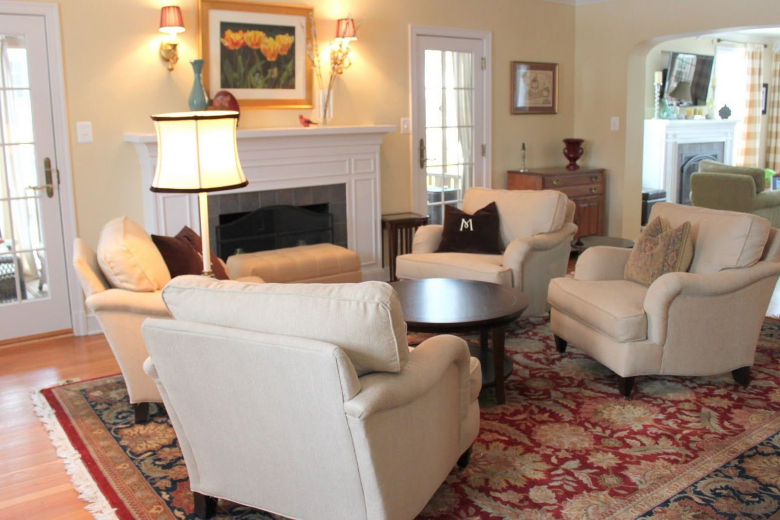 living room with just comfy chairs, no sofa | Living room without ...