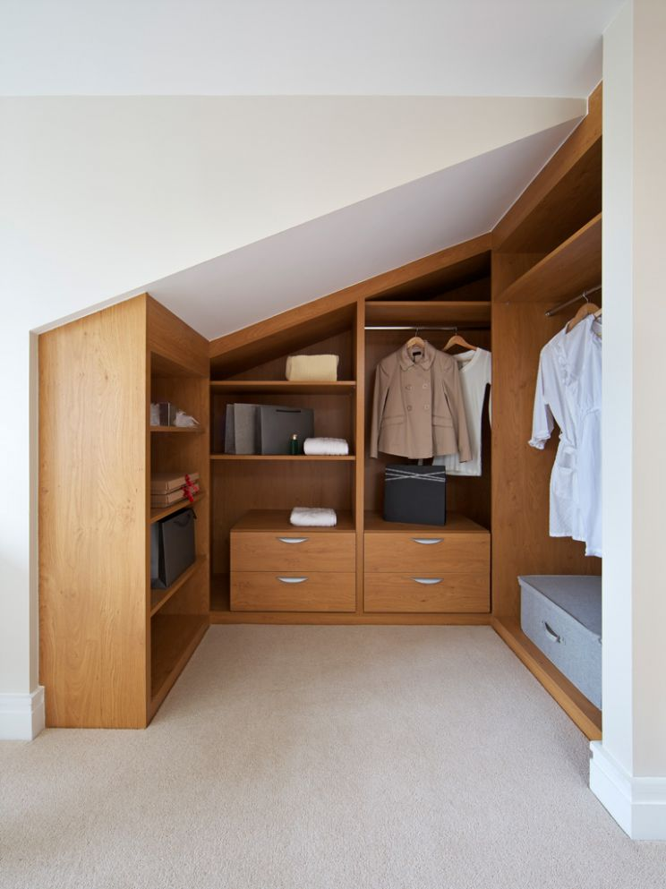 Loft Bedroom Closet Ideas - Image of Bathroom and Closet - closet ideas attic