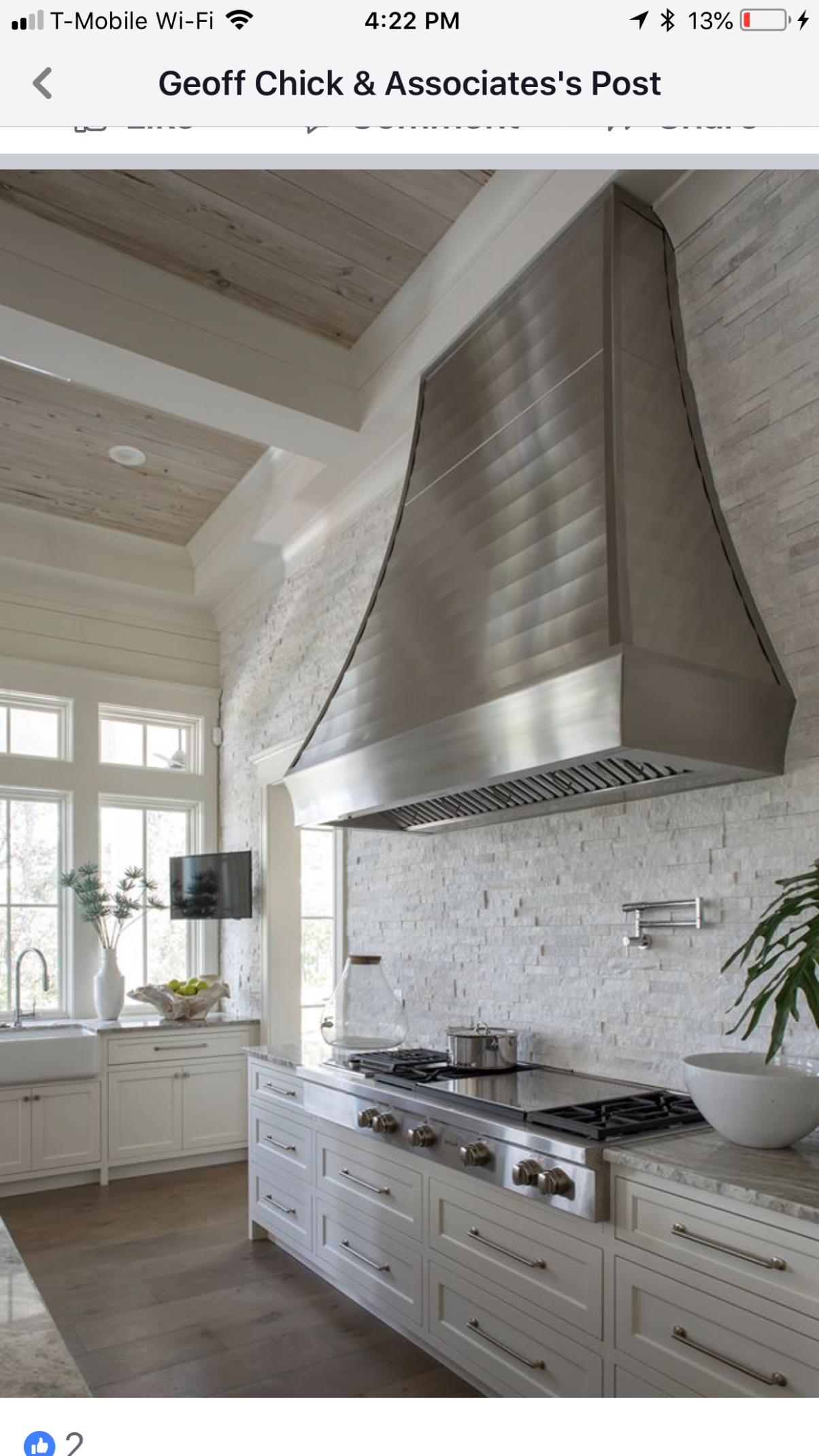 LOVE the hood. LOVE the large cooktop. LOVE the windows above the ..