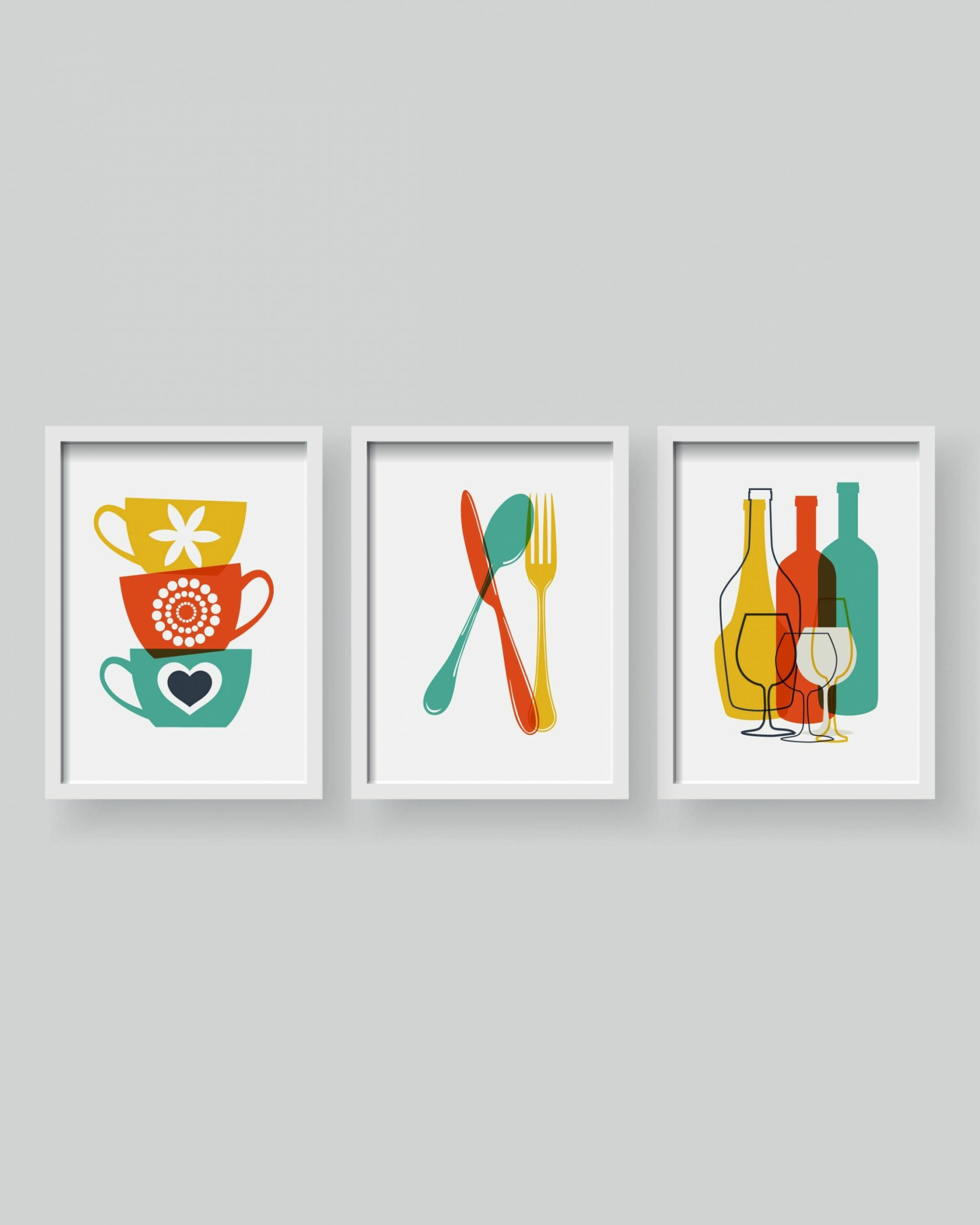 Lovely Modern Kitchen decor Kitchen wall art Kitchen prints ...