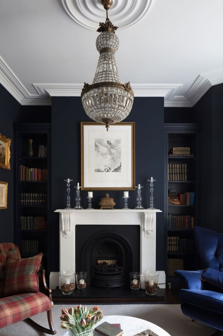 Masculine and Moody Rooms: Get the Look | Dark living rooms ...