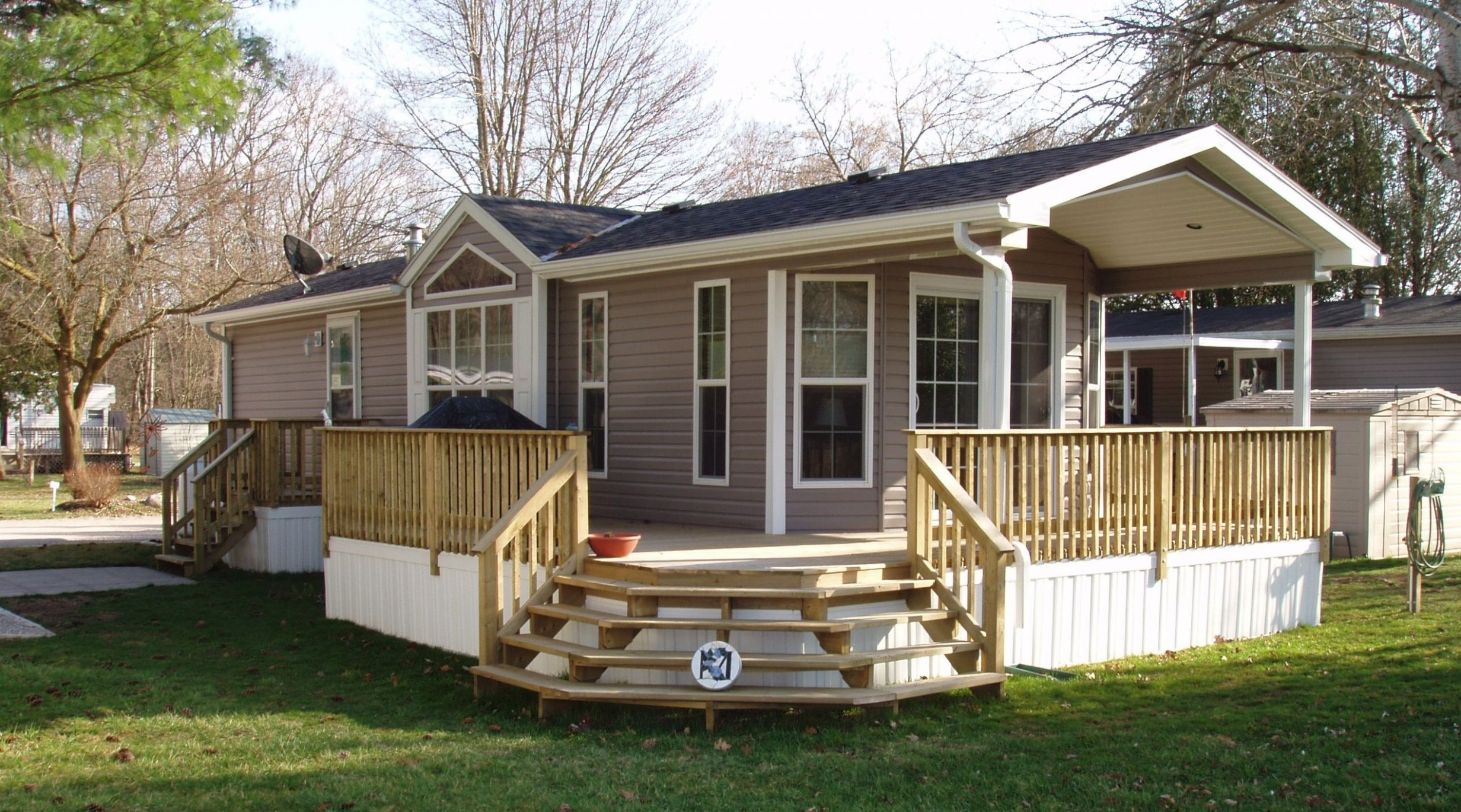 Mobile Home Porch Ideas With Photo Of Inexpensive Front Kits Plans ...