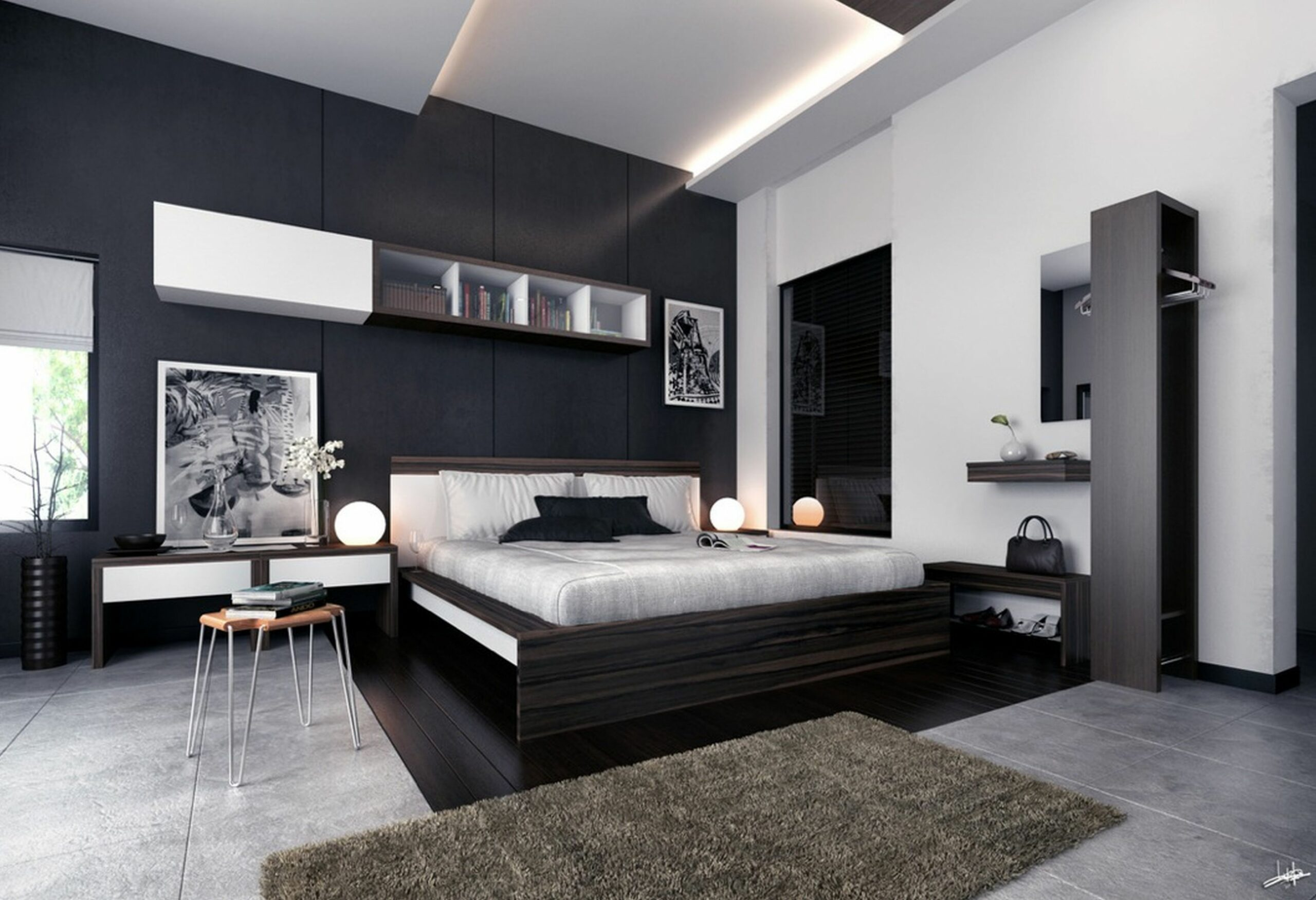 Modern black and white bedroom ideas - bedroom ideas black and white