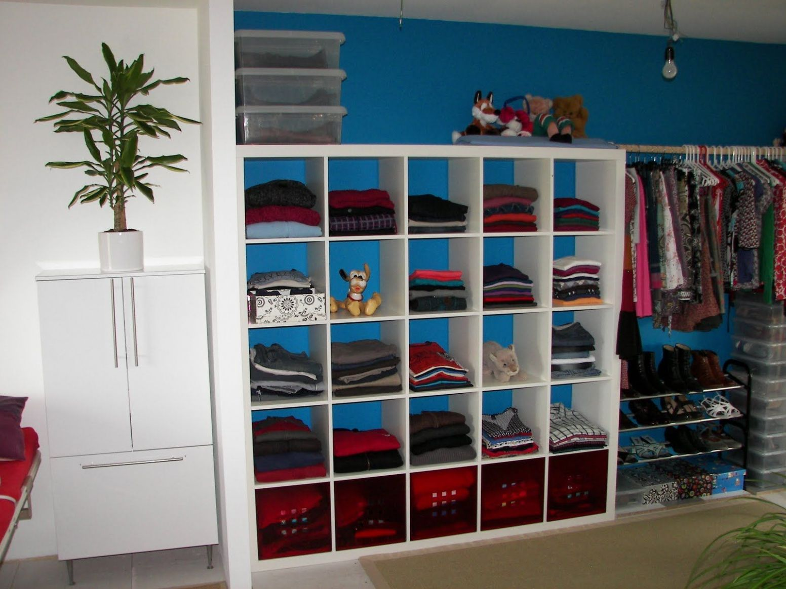 modern blue closet organizer for small closet idea with structural ..